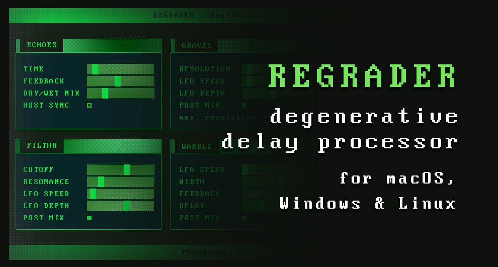 Preview image for Regrader - degenerative delay processor